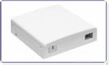 Розетка оптическая SNR-FTB-02S на 2 оптических адаптера c кабельным зажимом