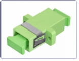 SNR-ADP-SC/APC SM Адаптер оптический проходной (оптическая розетка). Тип - SC/АPC (зеленый)
